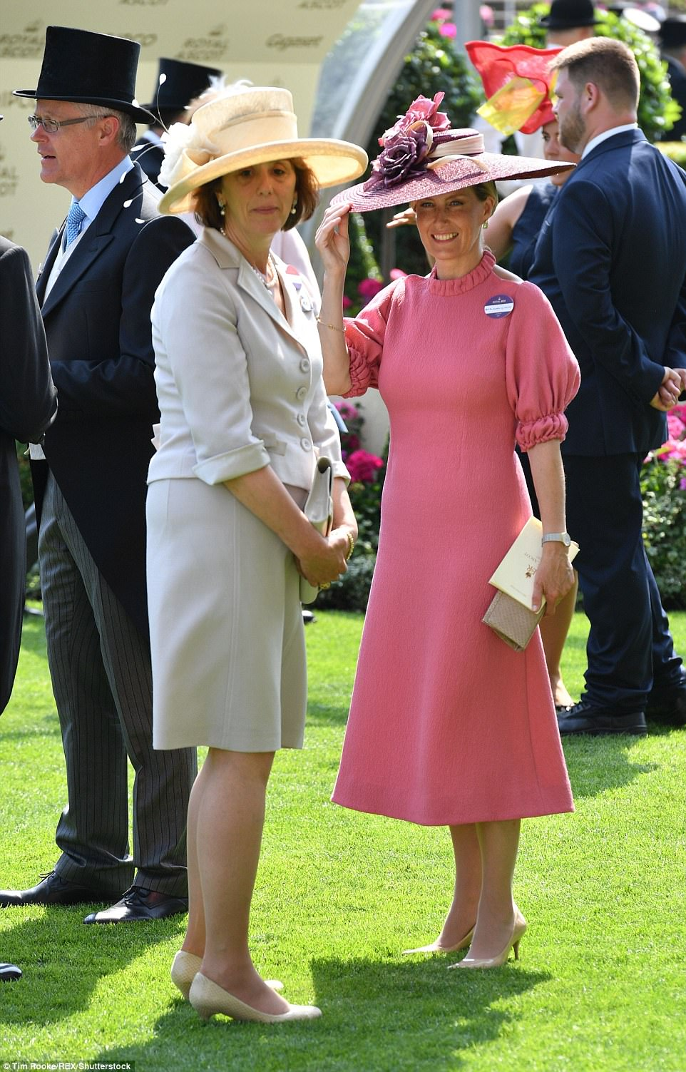 Sophie Wessex looked elegant in a rose pink dress from one of her favourite designers, Emilia Wickstead