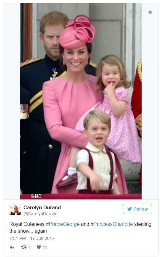 The Consensus Was That George and Charlotte Stole the Show Photo (C) TWITTER