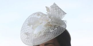 The Duchess of Cambridge 35 stunned in a bespoke white lace dress by Alexander McQueen for her appearance at Royal Ascot