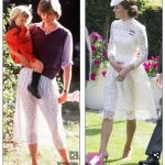 The Duchess of Cambridge emulated Princess Dianas revealing white skirt moment in 1980 with her own sheer ensemble at Royal Ascot almost four decades later