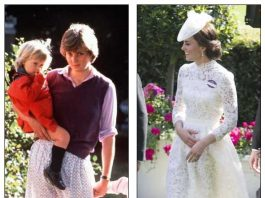 The Duchess of Cambridge emulated Princess Diana's revealing white skirt moment in 1980 with her own sheer ensemble at Royal Ascot almost four decades later