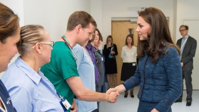The Duchess of Cambridge has visited a hospital to meet staff and patients affected by the London Bridge attack. Photo (C) PA
