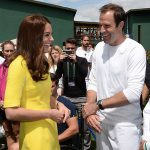 The Duchess of Cambridge with former British number one Greg Rusedski at Wimbledon in 2016. Photo C GETTY IMAGES