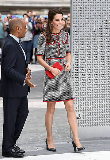 The Duchess opened the museums new entrance courtyard and gallery on Exhibition Road Photo C GETTY IMAGES