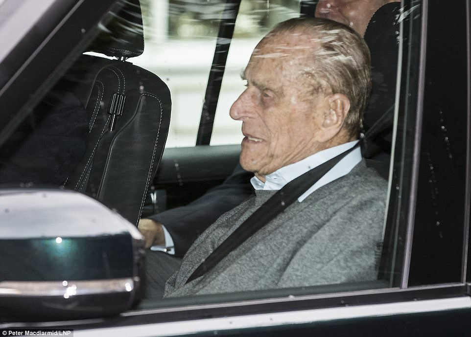 The Duke of Edinburgh leaves the King Edward VII's hospital in west London after being admitted following an infection