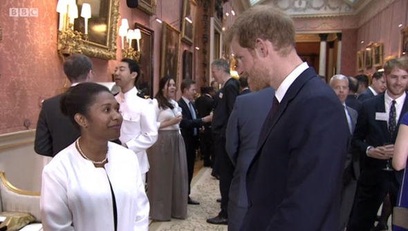 The Prince looked delighted to be a part of The One Show and the events at Buckingham Palace Photo C BBC