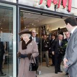 The Queen and Prince Philip popped into an HM store while touring the redeveloped King Edward Court Shopping Centre Photo C GETTY IMAGES