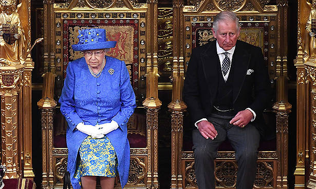 The Queen attends State Opening of Parliament with Prince Charles after Prince Philip is hospitalised Photo (C) GETTY IMAGES