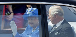 The Queen was accompanied by her son Prince Charles Photo C GETTY IMAGES