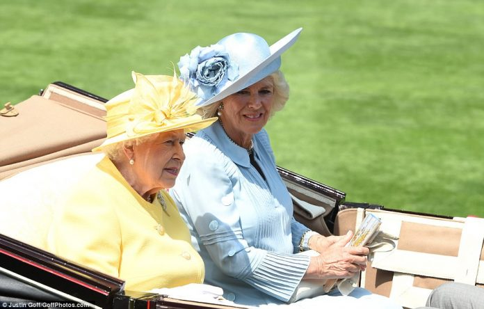 The Queen was joined by Camilla but is no doubt missing Prince Philip who has been hospitalised with an infection