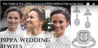 The TIARA & The JEWELS wore by PIPPA MIDDLETON at Her lavish Wedding