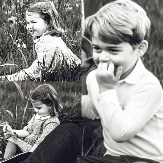 The family pictures happened by accident, as both Prince George and Princess Charlotte were more than intrigued by the circus unfolding around their father ➖ GQ Editor Dylan