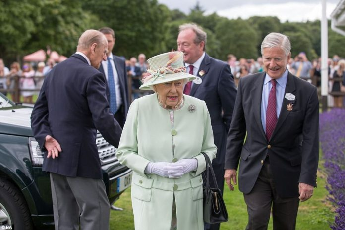 The royal couple received a warm welcome from board members upon their arrival on Sunday afternoon