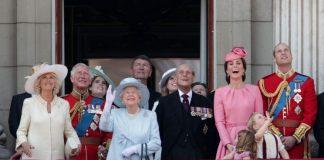 The royal toddlers were seen waving at RAF pilots Photo PA