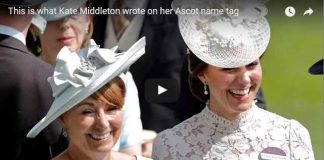 This is what Kate Middleton wrote on her Ascot name tag