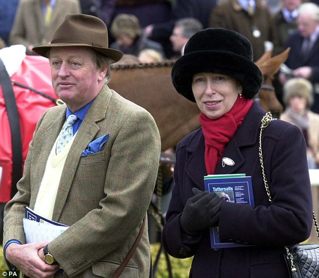To her fury, the man she adored, while still nominally her boyfriend, was now seeing Princess Anne, Charles's feisty younger sister (pictured with Andrew in 2003)