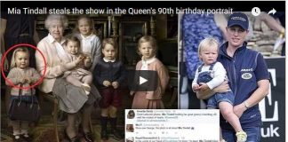 Video Mia Tindall steals the show in the Queens 90th birthday portrait