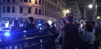 Witnesses by Monument Station near London Bridge Photo (C) EXPRESS