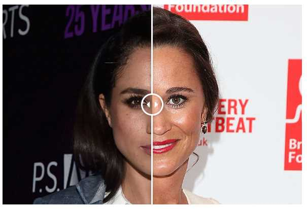 Meghan Markle How similar does Prince Harry's Suits girlfriend look to Pippa Middleton Photo (C) GETTY IMAGES