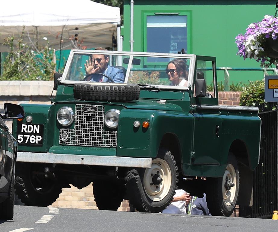 Pippa Middleton and James Middleton Enjoying the court drama Photo (C) GETTY IMAGES
