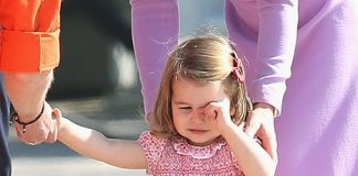 01 Princess Charlotte breaks down in tears after taking a tumble on royal tour Photo C GETTY IMAGES