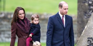 03 Prince George of Cambridge attends Church on Christmas Day on December 25 2016 in Bucklebury Berkshire