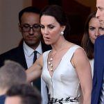 07 Kate Middleton Duchess of Cambridge and Prince William leave their residence in Warsaw Poland Photo C SplashNews