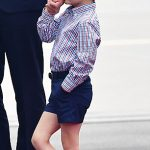 1 One is not amused Understandably Prince George seemed a little underwhelmed by the formality of the occasion and was seen fidgeting and swinging his legs as his father received an official welcome