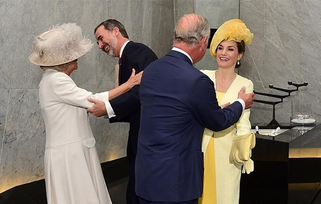 Prince Charles gets awkwardly close to Queen Letizia Personal Space totally Invaded Photo (C) GETTY IMAGES
