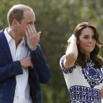 1 Prince William was spotted wiping his eyes after taking photographs with wife Catherine sitting on the bench Photo C GETTY IMAGES