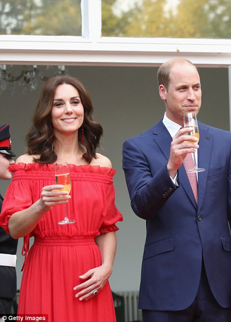 The Duke and Duchess met guests from the worlds of business and culture, as well as representatives of the British Community in Germany during tonight's garden party in Berlin