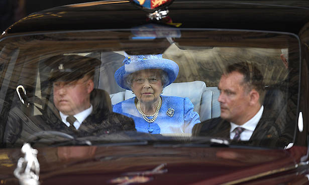 West Yorkshire Police confirmed they had received a call reporting the monarch for not wearing a seatbelt Photo C TWITTER