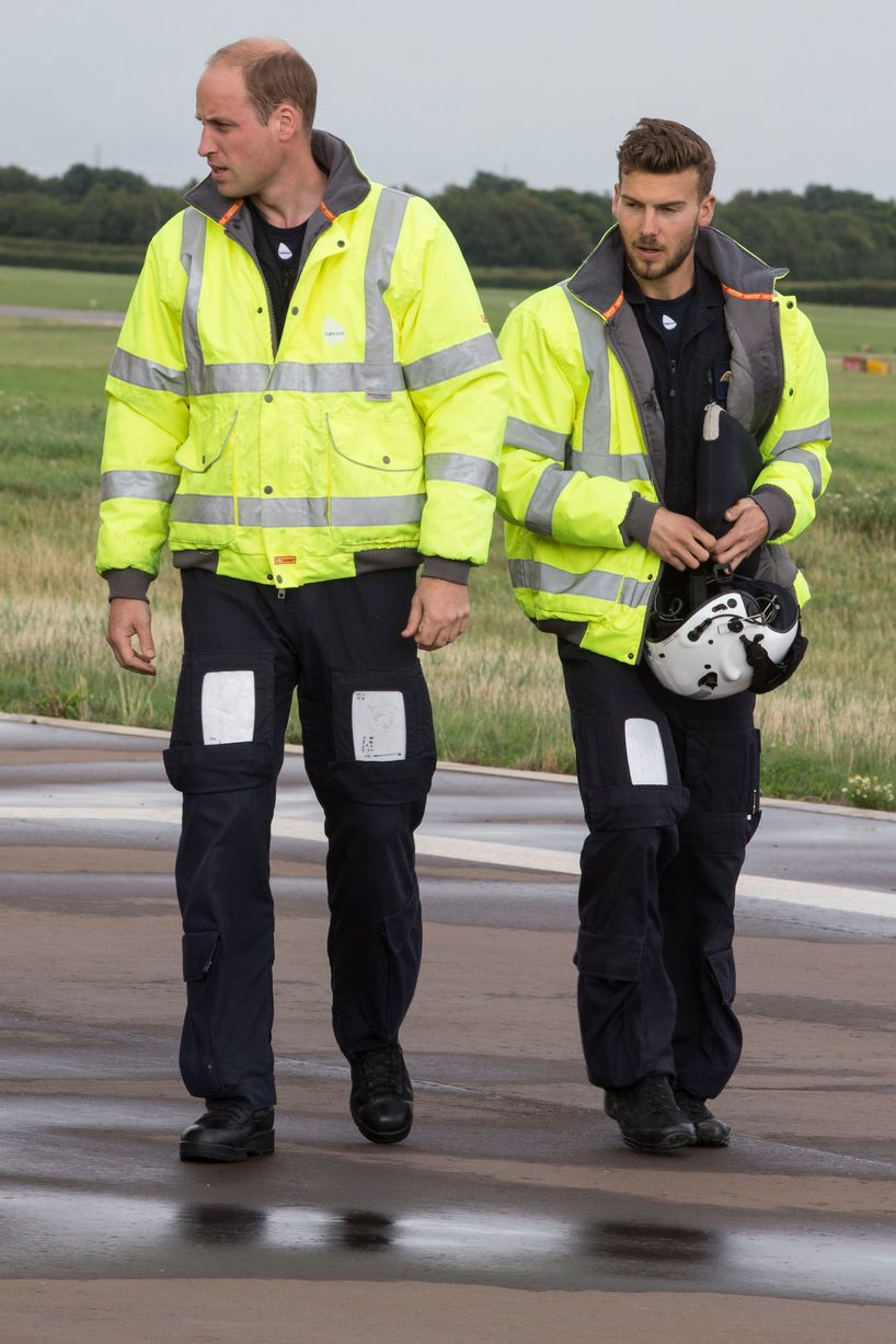 The Duke of Cambridge starts his final shift with the East Anglian Air Ambulance on Thursday, July 27. Picture: Heathcliff O'Malley/The Daily Telegraph/PA Wire