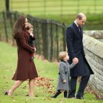 18 Prince George of Cambridge attends Church on Christmas Day on December 25 2016 in Bucklebury Berkshire