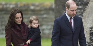 19 Prince George of Cambridge attends Church on Christmas Day on December 25 2016 in Bucklebury Berkshire