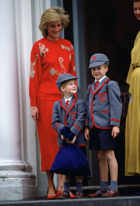 Prince William, Prince Harry and Princess Diana Photo (C) GETTY IMAGES