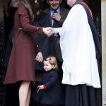 21 Prince George of Cambridge attends Church on Christmas Day on December 25 2016 in Bucklebury Berkshire