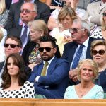 Actor Dominic Cooper star of Mamma Mia and Captain America sat behind the Duchess in the Royal Box while Gill Brook