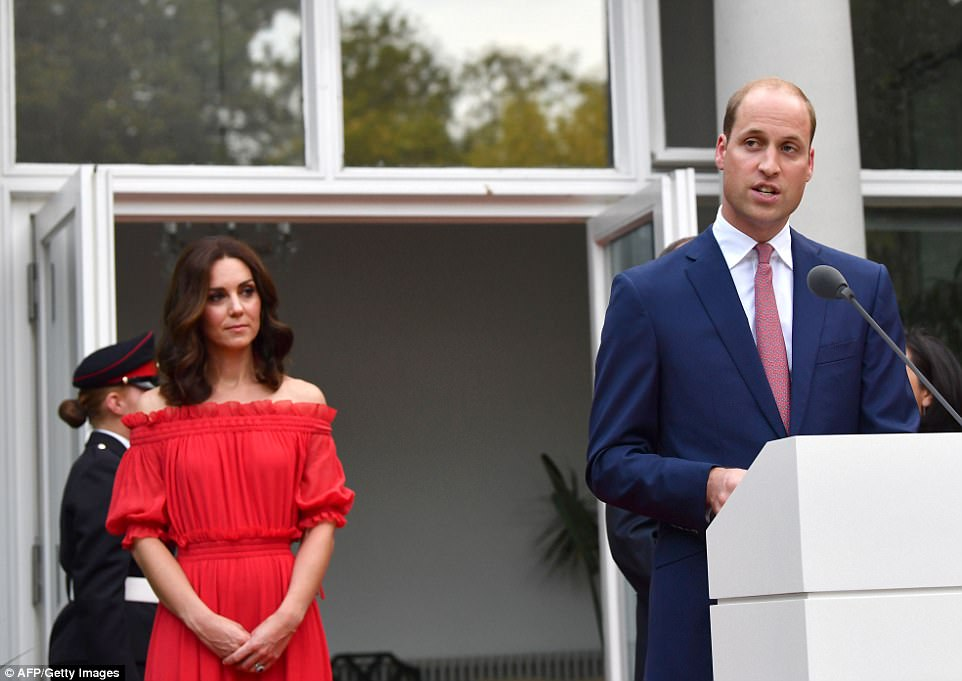 Addressing his hosts during a speech tonight, William said 'It is the product of many years of working closely together. It will continue despite Britain's recent decision to leave the European Union