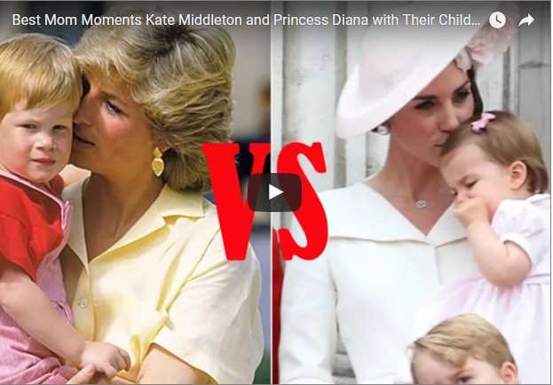 Best Mom Moments Kate Middleton and Princess Diana with Their Children