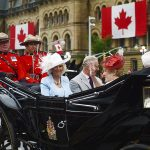 Camilla Prince Charles Sharon Johnston and Governor General David Johnston ride in a carriage during Canada 150 celebrations in Ottawa