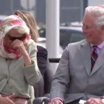 Camilla attempts to stifle her laughter as the performance continues Photo C NC