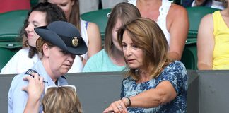 Carole Middleton and daughter Pippa arrived late to the match Photo C GETTY IMAGES