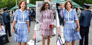 Carole Middleton arrived at Wimbledon in a dress just like Kates Photo C GETTY IMAGES