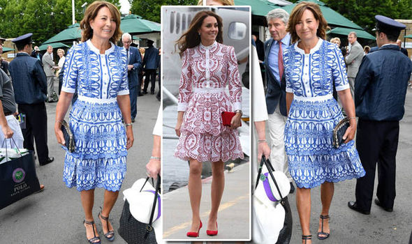 Carole Middleton arrived at Wimbledon in a dress just like Kate's Photo (C) GETTY IMAGES