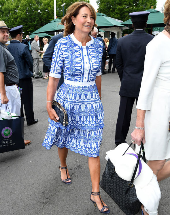 Carole Middleton arrived at Wimbledon today with husband Michael Photo (C) GETTY IMAGES