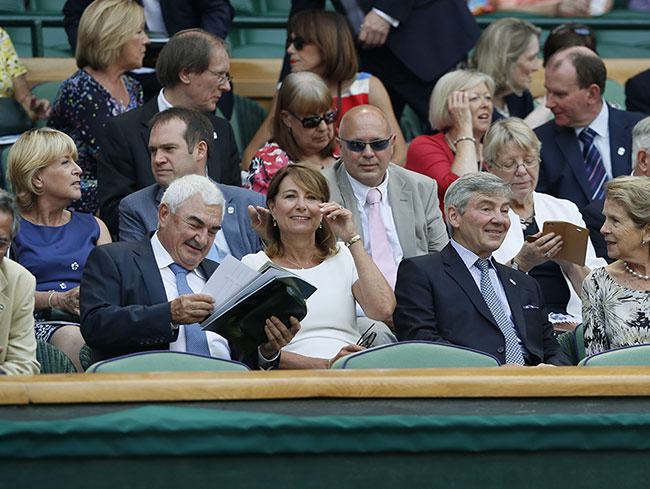 Carole and Michael Middleton at Wimbledon on Thursday Photo (C) GETTY IMAGES