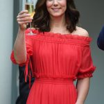 Cheers Kate raises a glass during Williams speech where he spoke of his desire for the UK and Germany to remain firmest of friends despite Brexit