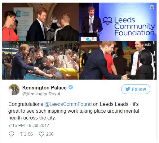 Congratulations @LeedsCommFound on Leeds Leads - it's great to see such inspiring work taking place around mental health across the city. Photo (C) TWITTER