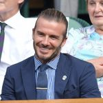David Beckham attends day five of the Wimbledon Tennis Championships at the All England Lawn Tennis and Croquet Club on July 7